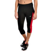 New Balance Accelerate Capris (For Women) in Black/Cerise - Closeouts