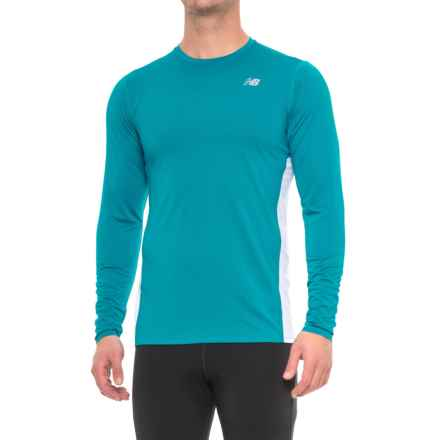New Balance Accelerate Shirt - Long Sleeve (For Men) in Deep Ozone Blue - Closeouts