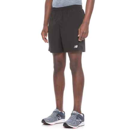 "New Balance Accelerate Shorts - 7"" (For Men) in Black - Closeouts"