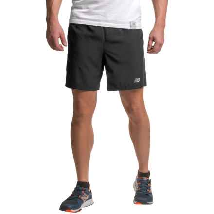 New Balance Accelerate Shorts - Built-in Briefs (For Men) in Black - Closeouts