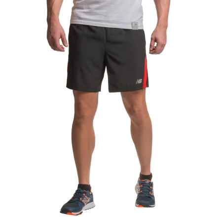 New Balance Accelerate Shorts - Built-in Briefs (For Men) in Chinese Red - Closeouts