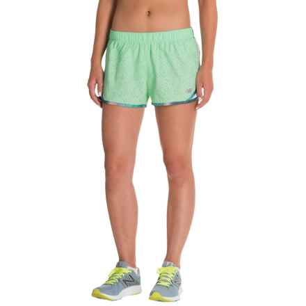 New Balance Accelerate Shorts - Built-In Briefs (For Women) in Agrave Green - Closeouts