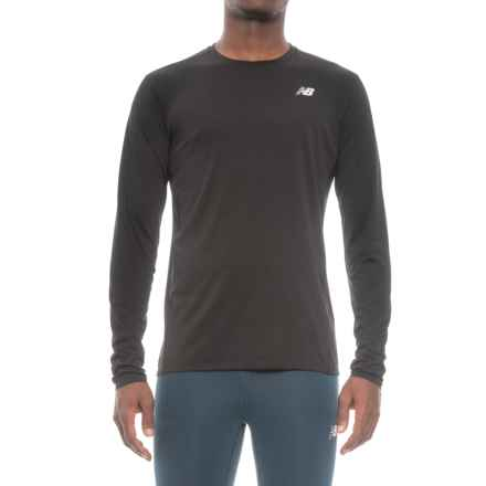 New Balance Accelerate T-Shirt - Long Sleeve (For Men) in Black - Closeouts