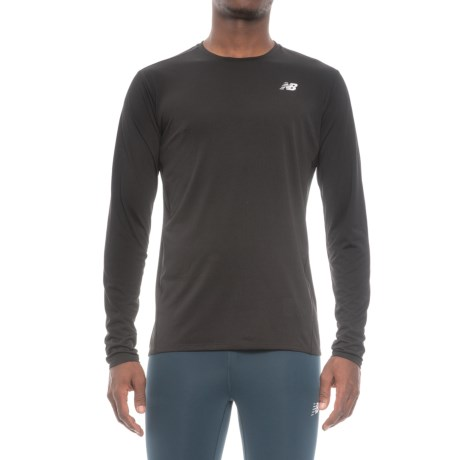 New Balance Accelerate T-Shirt - Long Sleeve (For Men) in Black