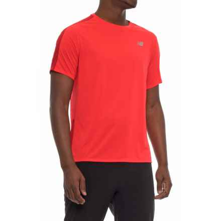 New Balance Accelerate T-Shirt - Short Sleeve (For Men) in Energy Red - Closeouts