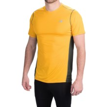 New Balance Accelerate T-Shirt - Short Sleeve (For Men) in Gold Rush/Deep Water - Closeouts