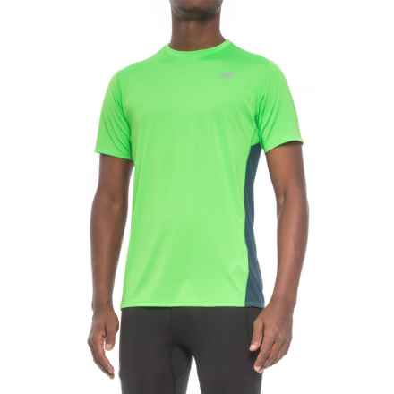 New Balance Accelerate T-Shirt - Short Sleeve (For Men) in Vivid Cactus - Closeouts
