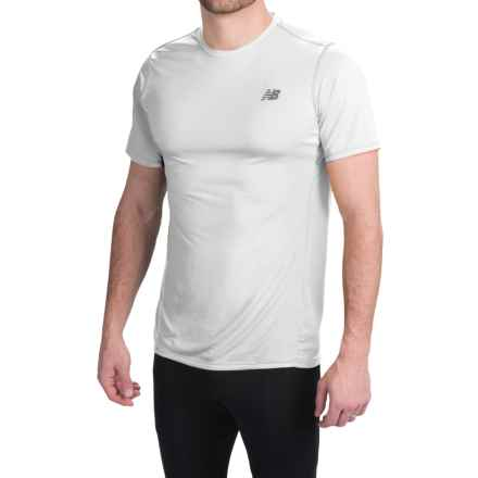 New Balance Accelerate T-Shirt - Short Sleeve (For Men) in White - Closeouts