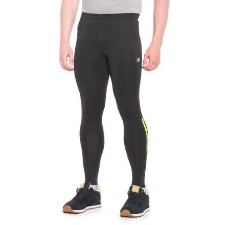 New Balance Accelerate Tights (For Men) in Energy Lime - Closeouts