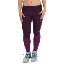 New Balance Accelerate Tights (For Women) in Asteroid/Imperial Purple - Closeouts