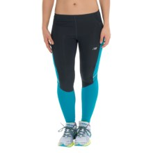 New Balance Accelerate Tights (For Women) in Outer Space/Sea Glass - Closeouts