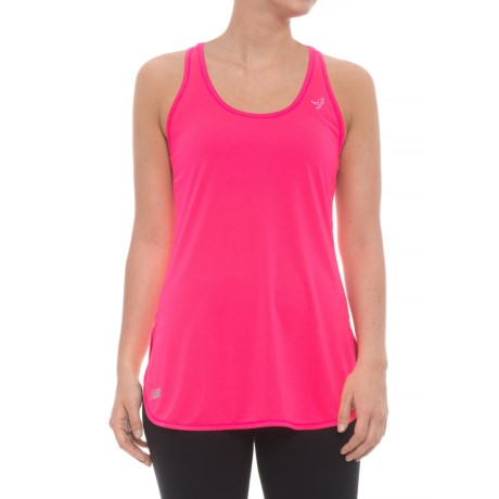 New Balance Accelerate Tunic Shirt - Sleeveless (For Women) in Alpha Pink