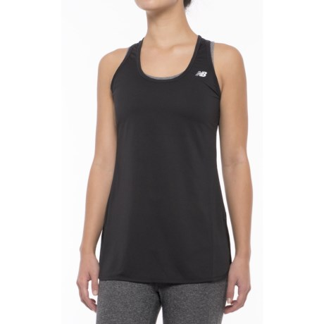 New Balance Accelerate Tunic Tank Top - Racerback (For Women) in Black
