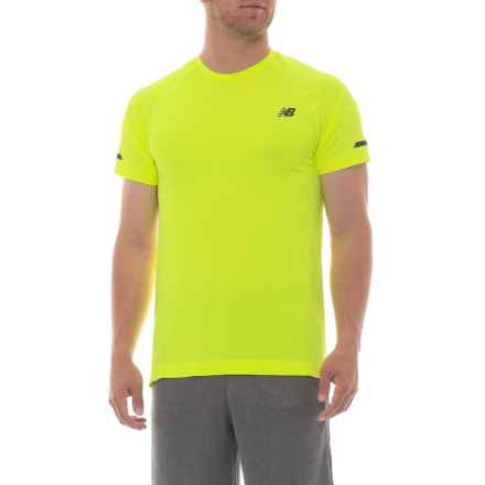 New Balance Aericore Running Shirt - Short Sleeve (For Men) in Hi-Lite - Closeouts