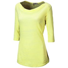 New Balance Anue Chai Burnout Shirt - 3/4 Sleeve (For Women) in Sunny Lime - Closeouts
