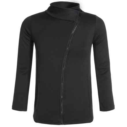New Balance Asymmetrical Zip Jacket (For Big Girls) in Black - Closeouts