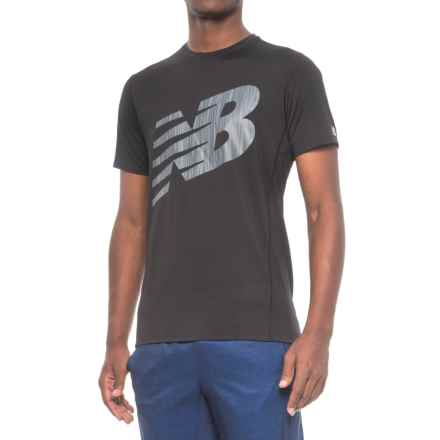 New Balance Athletic Graphic T-Shirt - Short Sleeve (For Men) in Black - Closeouts