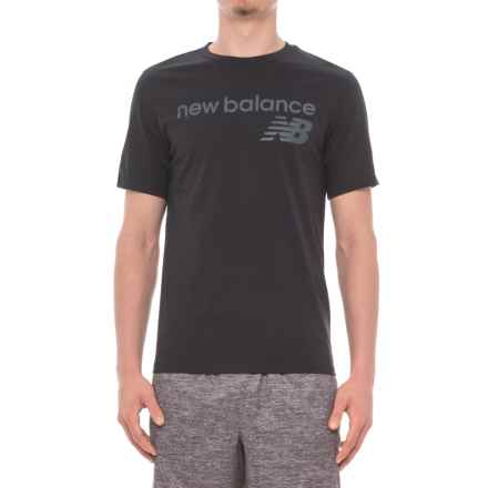 New Balance Athletic Main T-Shirt - Short Sleeve (For Men) in Black - Closeouts