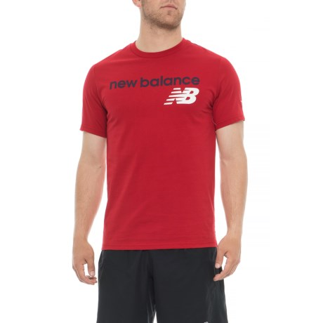 New Balance Athletic Main T-Shirt - Short Sleeve (For Men) in Red Pepper