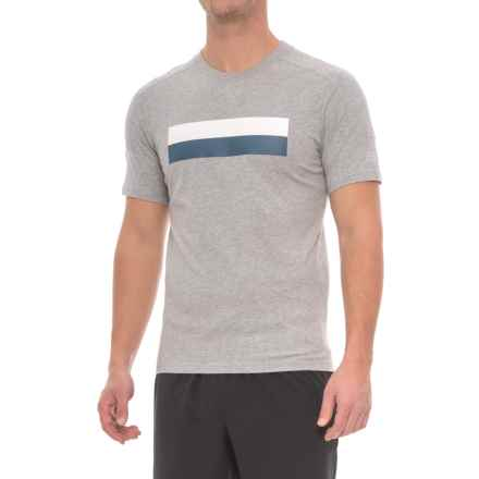 New Balance Athletic Stripe Shirt - Cotton, Short Sleeve (For Men) in Ag Athetic Grey - Closeouts
