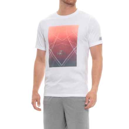 New Balance Athletic Vortex Running T-Shirt - Short Sleeve (For Men) in White - Closeouts