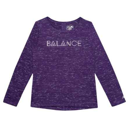 New Balance Balance High-Performance Shirt - Long Sleeve (For Big Girls) in Plum - Closeouts