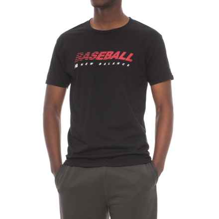 New Balance Baseball Speed Shirt - Short Sleeve (For Men) in True Black - Closeouts