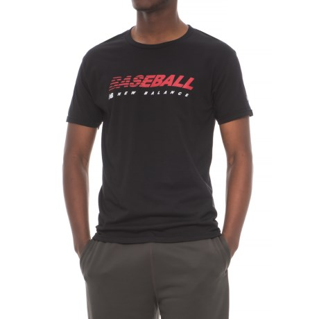 New Balance Baseball Speed Shirt - Short Sleeve (For Men) in True Black