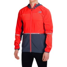 New Balance Beacon Jacket (For Men) in Flame/Black - Closeouts
