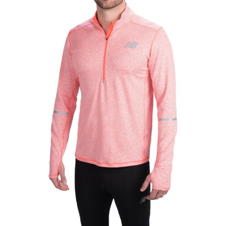 New Balance Beacon Pullover Zip Neck, Long Sleeve (For Men)