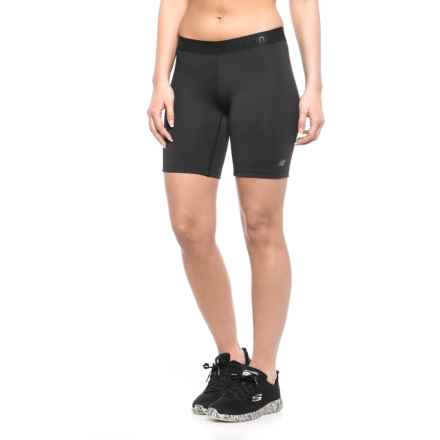 "New Balance Bike Shorts - 7"" (For Women) in 001 Bk Black - Closeouts"