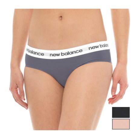 New Balance Bonded Logo Panties - 3-Pack, Bikini (For Women) in Black/Nude/Thunder