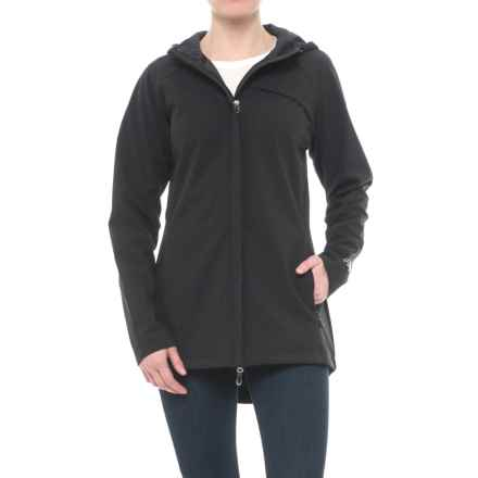 Bonded Mesh Soft Shell Anorak Jacket (For Women) in Black