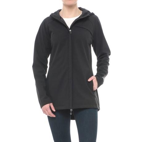 New Balance Bonded Mesh Soft Shell Anorak Jacket (For Women) in Black