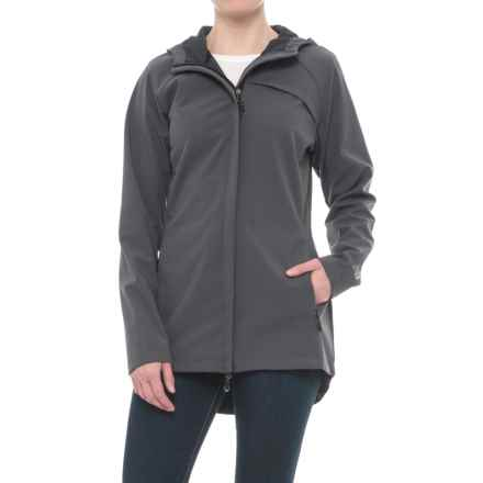 New Balance Bonded Mesh Soft Shell Anorak Jacket (For Women) in Magnet - Closeouts