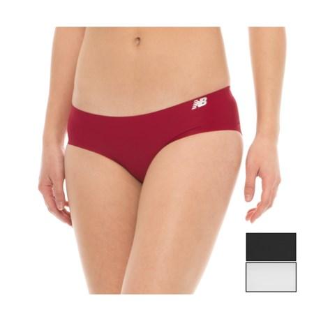 New Balance Bonded Panties - 3-Pack, Bikini (For Women) in Black/Horizon/White