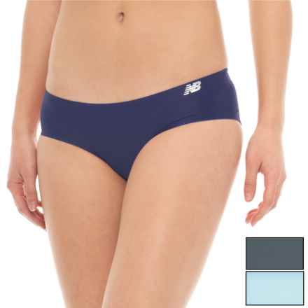 New Balance Bonded Panties - 3-Pack, Bikini (For Women) in Denim/Clear Sky/Thunder - Closeouts