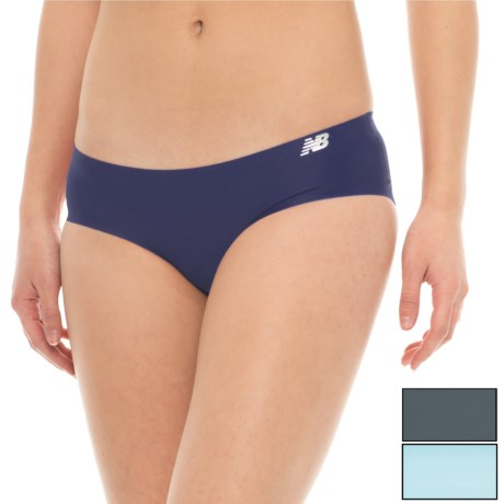 New Balance Bonded Panties - 3-Pack, Bikini (For Women) in Denim/Clear Sky/Thunder