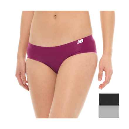 New Balance Bonded Panties - 3-Pack, Bikini (For Women) in Gunmetal/ Deep Jewel/ Black - Closeouts