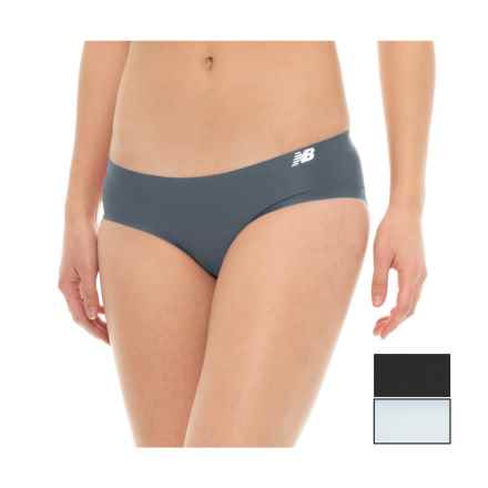 New Balance Bonded Panties - 3-Pack, Bikini (For Women) in Thunder/Silver Mink/Black - Closeouts
