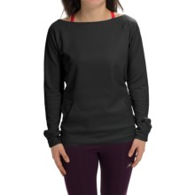 New Balance Bonded Scuba Pullover Shirt - Long Sleeve (For Women) in Black - Closeouts