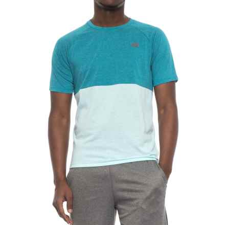 New Balance Breathe Shirt - Short Sleeve (For Men) in Deep Ozone Blue Heather - Closeouts