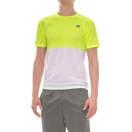 New Balance Breathe Shirt - Short Sleeve (For Men) in Hi Lite Heather - Closeouts