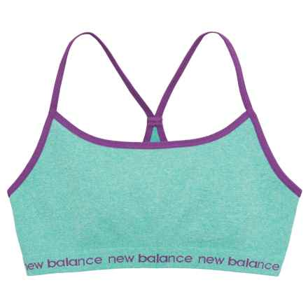 New Balance Cami Sports Bra - Seamless (For Big Girls) in Light Blue - Closeouts