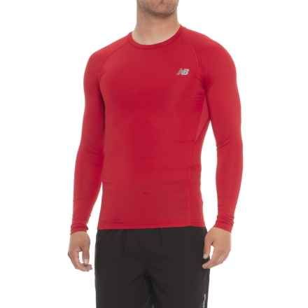 New Balance Challenge T-Shirt - Long Sleeve (For Men) in Team Red Print - Closeouts