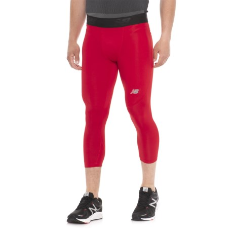 New Balance Challenge Tights - 3/4 Length (For Men) in Team Red Print