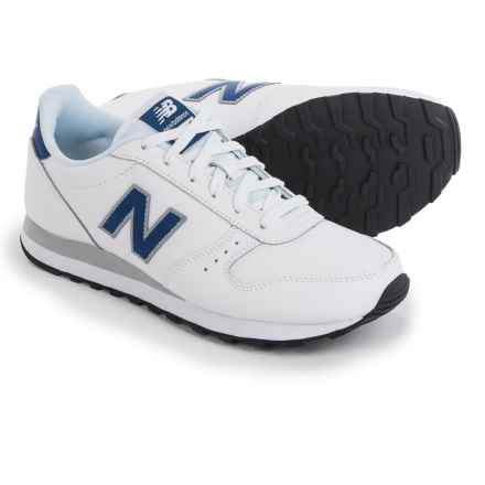 New Balance Classic 311 Sneakers - Leather (For Men) in White/Blue - Closeouts