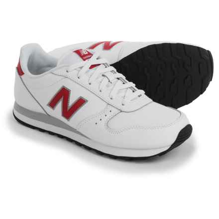 New Balance Classic 311 Sneakers - Leather (For Men) in White/Red - Closeouts