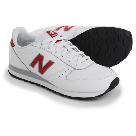 New Balance Classic 311 Sneakers - Leather (For Men) in White/Red