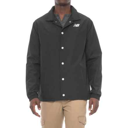 New Balance Classic Coaches Jacket (For Men) in Black - Closeouts